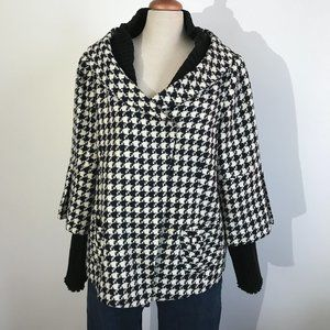 Lucien Daunois Black & White Houndstooth Coat